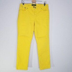 Lauren Ralph Lauren yellow stretch ankle jeans